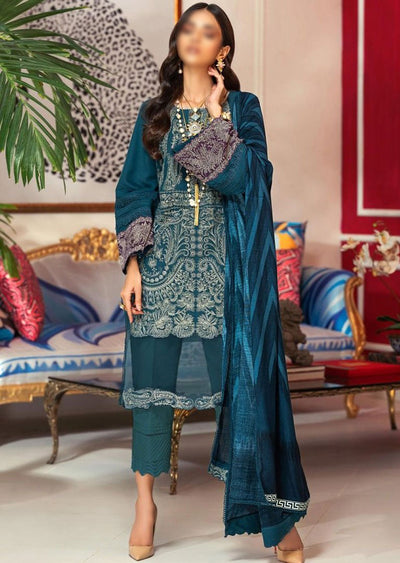M203-006B - Unstitched - Sana Safinaz Muzlin Winter Collection 2020 - Memsaab Online