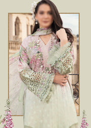 D-2106-B - Unstitched - Maria B Luxe Lawn Collection 2021 - Memsaab Online
