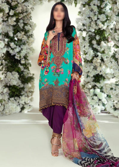 E201-006A - Unstitched - Sana Safinaz Luxury Festive Collection 2020 - Memsaab Online