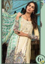 6A Maria B M Prints Unstitched 2019 - Pakistani Designer Embroidered Lawn Suit Spring / Summer UK DELIVERY - Memsaab Online