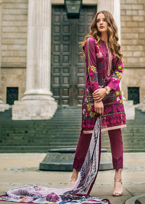 6A Mina Hasan Festive Luxury Lawn 2019 - Pakistani Designer Suit Worldwide Delivery - Memsaab Online