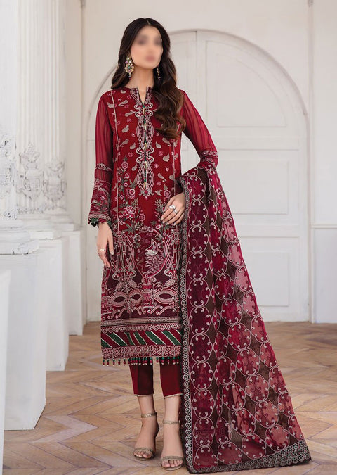 JAZ06 - Arash - Unstitched - Jazmin Mahpare Luxury Chiffon Collection 2020 - Memsaab Online