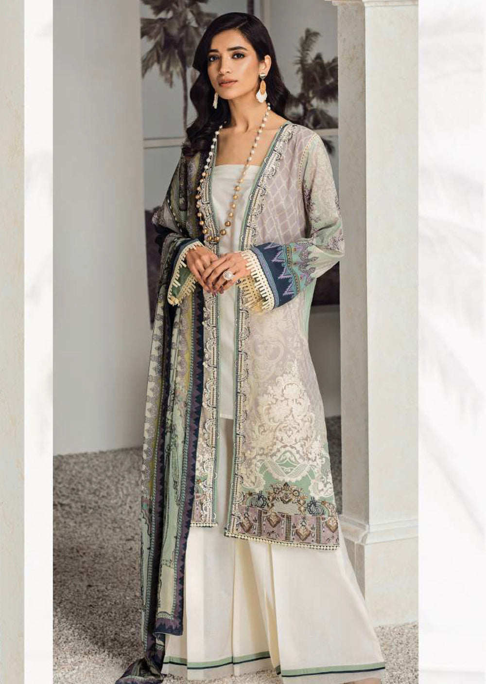 1d1aefbe8a ... Fuchsia by Baroque - Unstitched Pakistani Designer Embroidered Lawn Suit  - Memsaab Online. Baroque