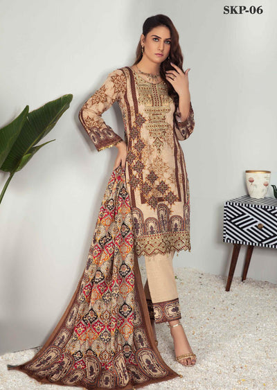SKP-06 - Readymade - Riwayat Khaddar Collection by Simrans - Memsaab Online