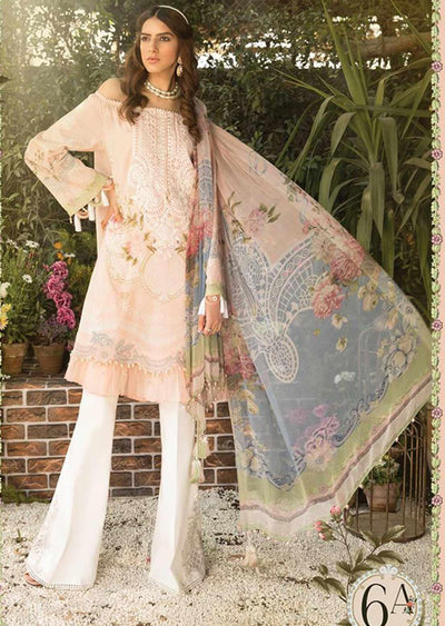 6A Unstitched Maria B Inspired Linen Suit - Memsaab Online