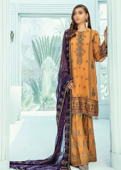 06 - MÜGE - Unstitched - Janaan Luxury Chiffon Collection 2020 - Memsaab Online