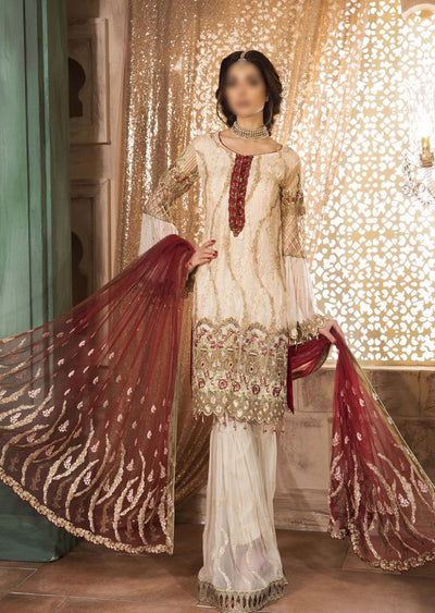MG-09 Maryam's Readymade Luxury Bliss Chiffon Suit - Memsaab Online