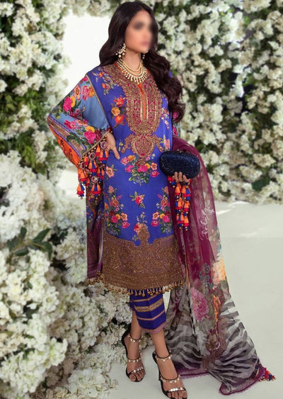 E201-006B - Unstitched - Sana Safinaz Luxury Festive Collection 2020 - Memsaab Online