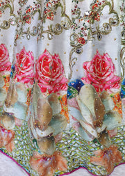 DXS06 Readymade Silk Embroidered Skirt. - Memsaab Online