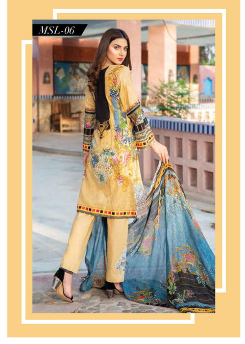 MSSL06 - Readymade - Munira Digital Airjet Lawn Collection 2020 - Memsaab Online