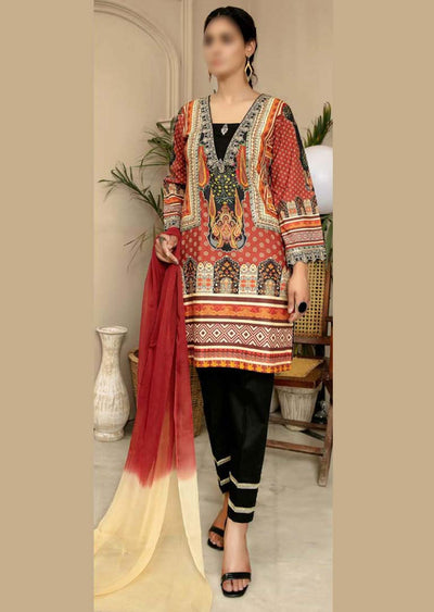 CK-711 - Readymade - Mona Summer Pret Collection by Ally's - Memsaab Online