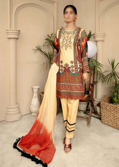 CK-714 - Readymade - Mona Summer Pret Collection by Ally's - Memsaab Online