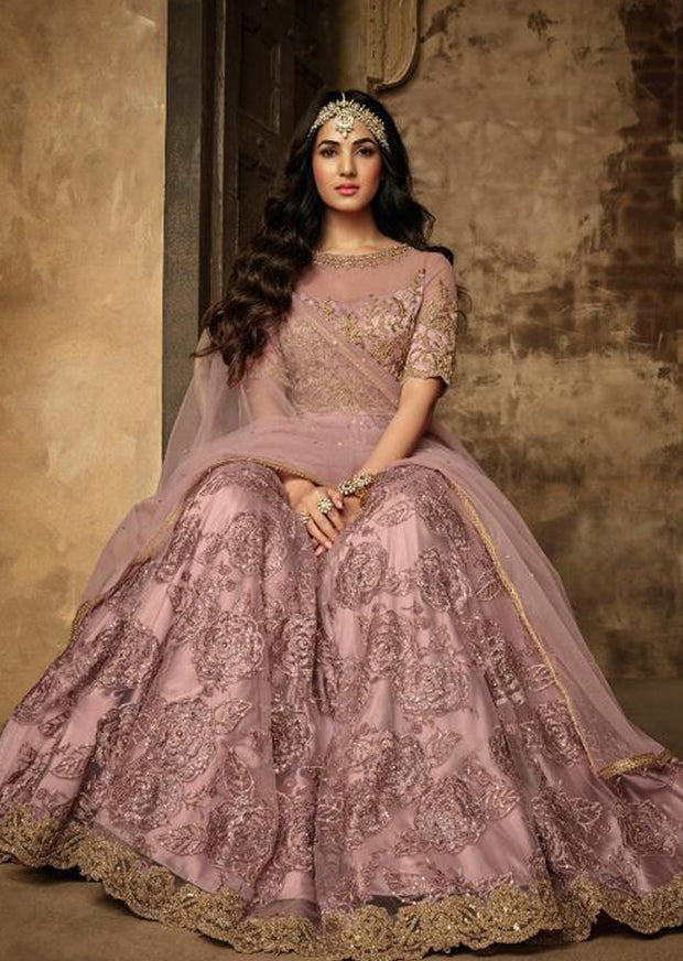 7202 - Pink - Unstitched Maisha Inspired - Indian Designer Bet Dress - Memsaab Online