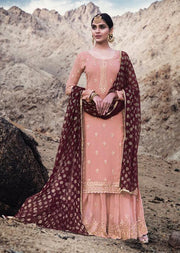 74004 - Unstitched Mohini Glamour Vol 74 - Long Partywear Dress - Memsaab Online
