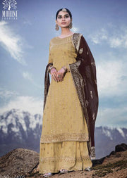 Unstitched Mohini Glamour Vol 74 - Long Partywear Dress - Memsaab Online
