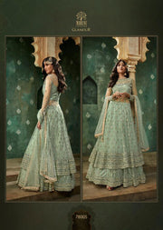 Unstitched Mohini Glamour Vol 78 - Long Partywear Dress - Memsaab Online