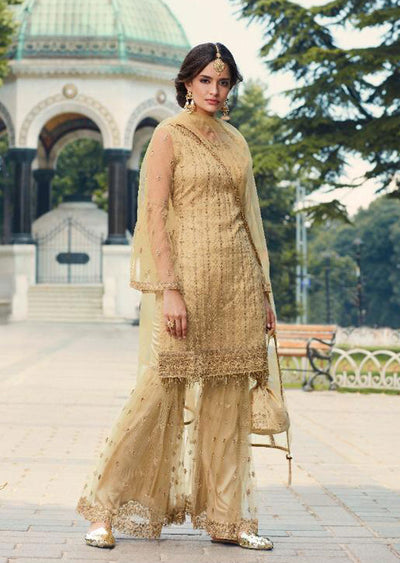 Unstitched Mohini Glamour Vol 79 - Long Partywear Dress - Memsaab Online