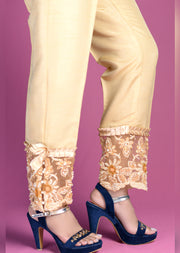 Gold Trouser With Hand Embroidery - Memsaab Online
