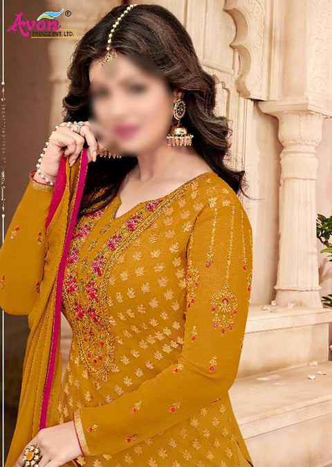 AV797 - Unstitched - Star Brasso Vol 6 Collection by Avon 2020 - Memsaab Online
