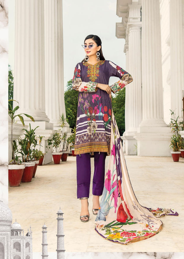 NS07 - Unstitched - Nishat Maysoori Embroidered Collection Vol 1 - Memsaab Online