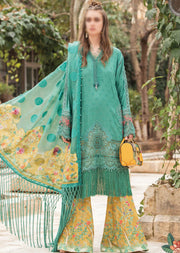 D-2107-B - Unstitched - Maria B Luxe Lawn Collection 2021 - Memsaab Online