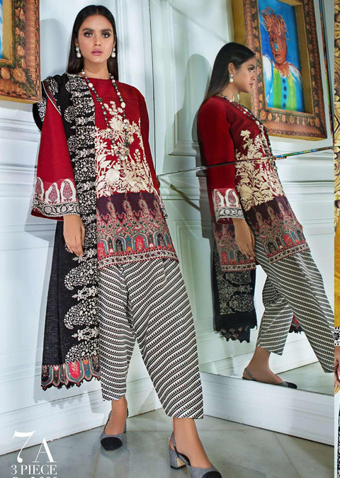 MS07 - A - Unstitched - Mahay by Sana Safinaz Winter Collection - Memsaab Online