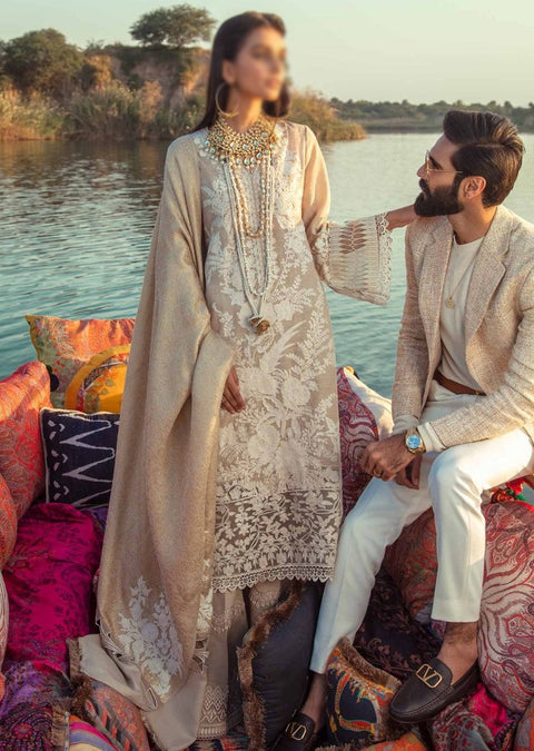 SNS07-A - Unstitched - Sana Safinaz Fall/Winter Collection 2020 - Memsaab Online