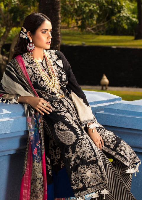 7A Unstitched Luxury Lawn Spring/Summer 2020 - Memsaab Online