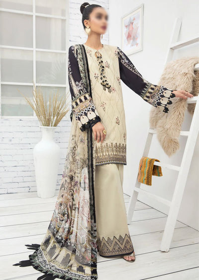FBR07 - Unstitched - Farasha by Baroque Replica 2020 - Memsaab Online
