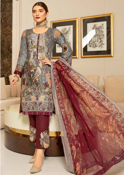 MSEL07 - Readymade - Munira Digital Linen Collection 2020 - Memsaab Online