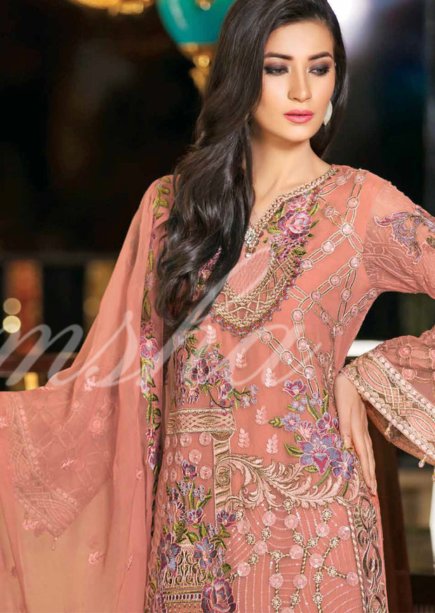 F-1507 - Ramsha Zari Volume 15 Glorious Collection - pakistani embroidered chiffon salwar kameez uk - Memsaab Online