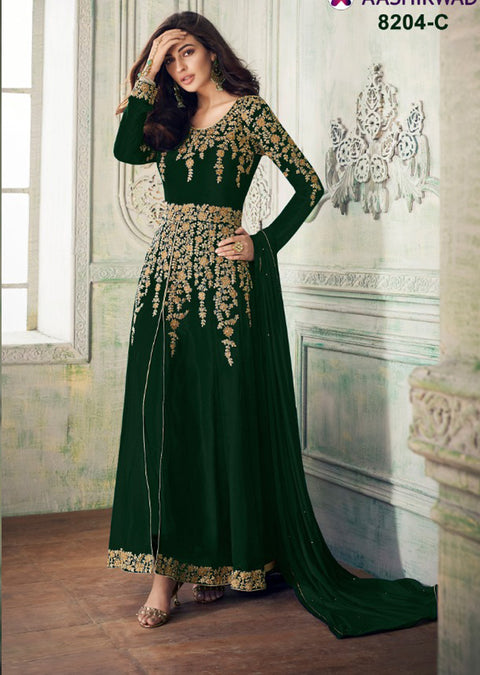 8204 - C - Unstitched - Aashirwad INSPIRED / REPLICA - Indian Embroidered dress - Asian Fashion - Memsaab Online