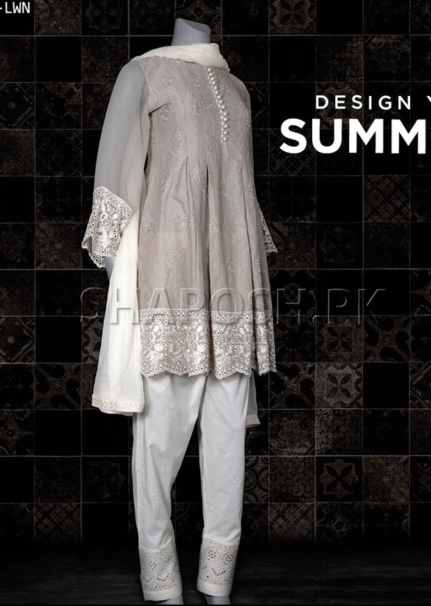 828-ST-GREY - Sha Posh - Readytowear Lawn - Pakistani Casual-wear Design - Memsaab Online