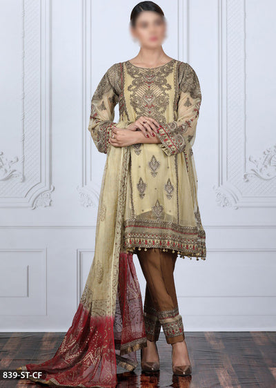 839 Skin Readymade Fancy Shaposh Chiffon Suit - Memsaab Online