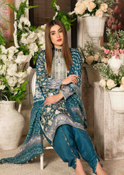 8461-B - Camellia Viscose Prints Unstitched Collection by Tawakkal - Memsaab Online