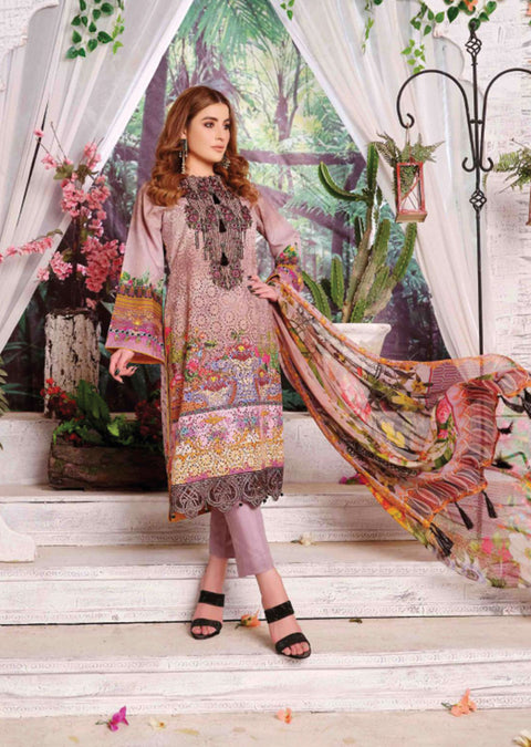 8469 - Tawakkal Cultured Digital Schiflee Unstitched Collection 2020 - Memsaab Online