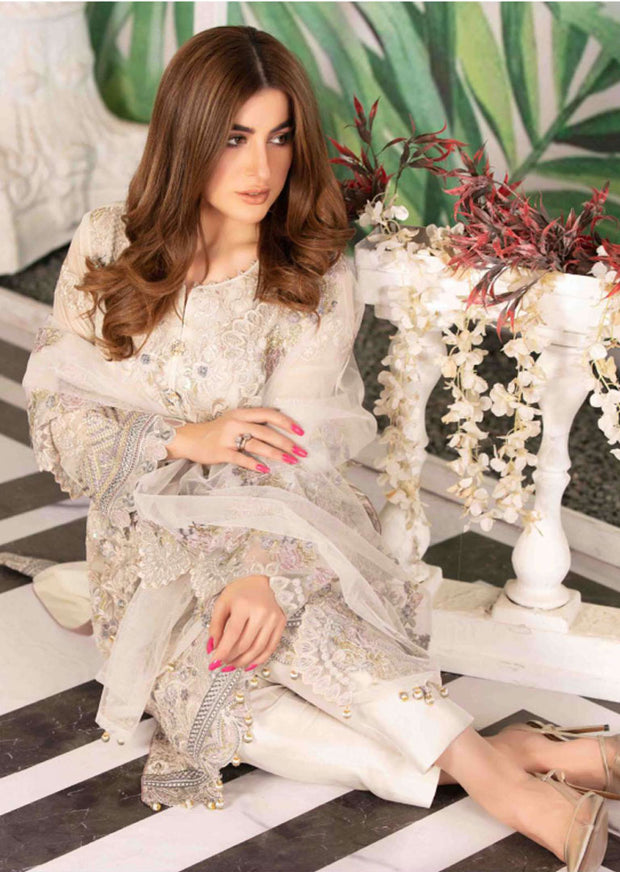 D-8577 Unstitched Tawakkal Blooming Orchid Chiffon Collection - Memsaab Online