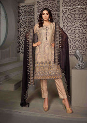 D-8603 - Unstitched - Le Grand Amour Chiffon Collection by Tawakkal 2020 - Memsaab Online