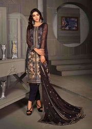 D-8605 - Unstitched - Le Grand Amour Chiffon Collection by Tawakkal 2020 - Memsaab Online