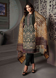 D-8606 - Unstitched - Le Grand Amour Chiffon Collection by Tawakkal 2020 - Memsaab Online