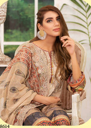 D-8614 Unstitched Fairytale Impression Collection 2020 - Memsaab Online