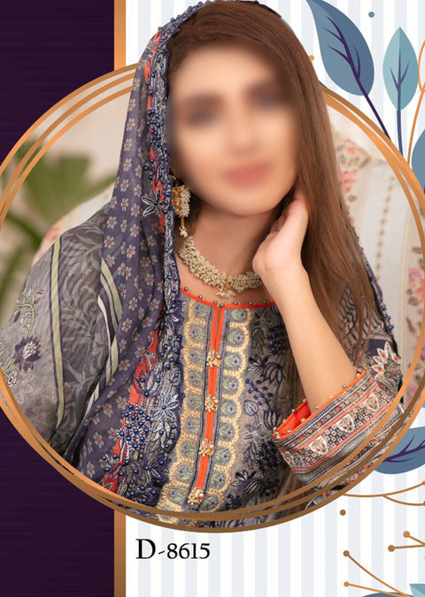 D-8615 Unstitched Fairytale Impression Collection 2020 - Memsaab Online