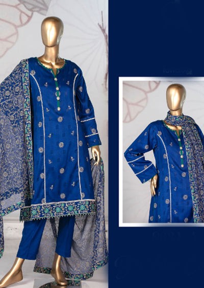 8631 - A - Unstitched Amna Sohail Collection By Tawakkal 2020 - Memsaab Online