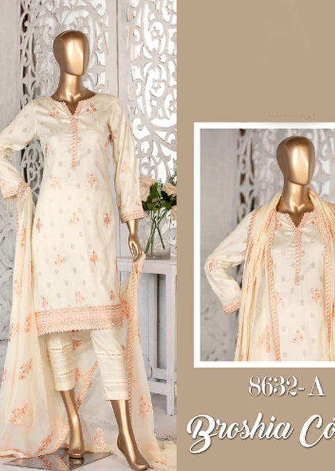 8632 - A - Unstitched Amna Sohail Collection By Tawakkal 2020 - Memsaab Online