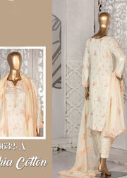 Z 8632 - A - Unstitched Amna Sohail Collection By Tawakkal 2020 - Memsaab Online