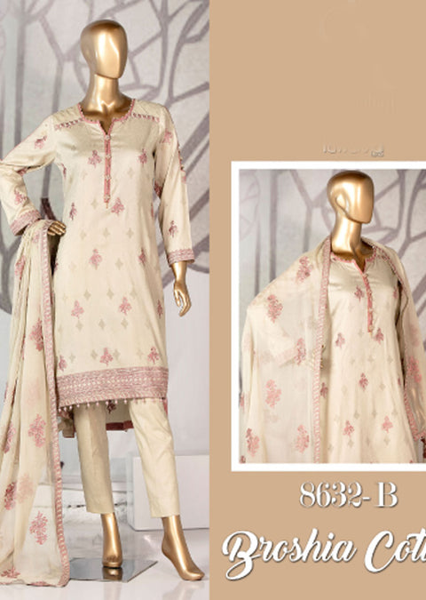 8632 - B - Unstitched Amna Sohail Collection By Tawakkal 2020 - Memsaab Online