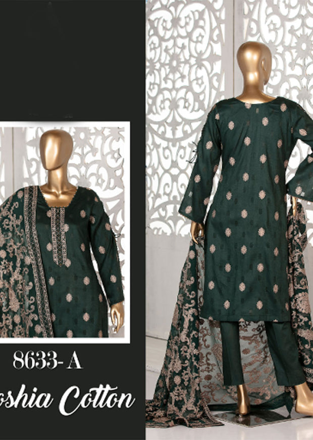 8633 - A - Unstitched Amna Sohail Collection By Tawakkal 2020 - Memsaab Online