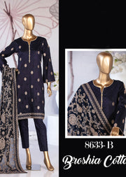 Z 8633 - B - Unstitched Amna Sohail Collection By Tawakkal 2020 - Memsaab Online