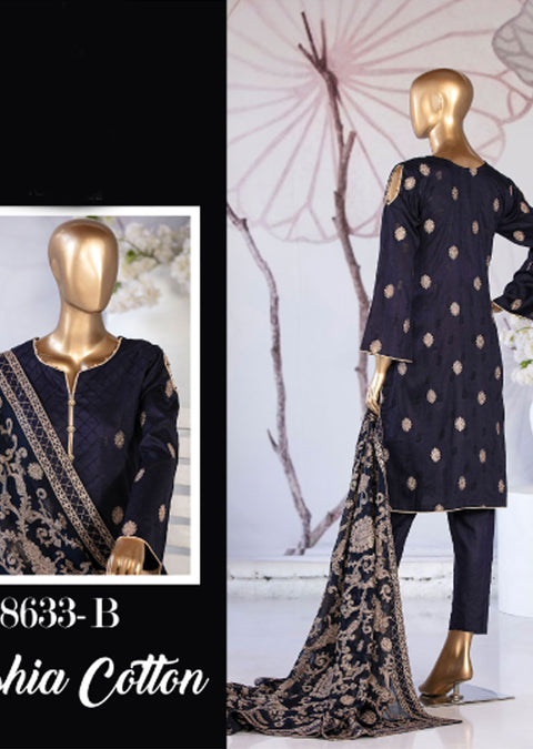 8633 - B - Unstitched Amna Sohail Collection By Tawakkal 2020 - Memsaab Online