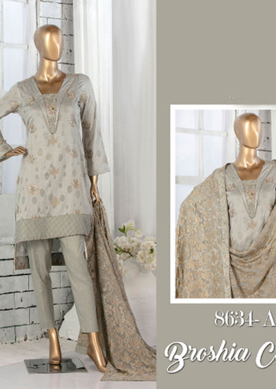 8634 - A - Unstitched Amna Sohail Collection By Tawakkal 2020 - Memsaab Online